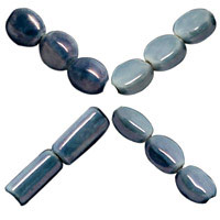 Lt. Slate Blue Pearlized Beads