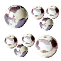 Lavender & White Pearlized Beads