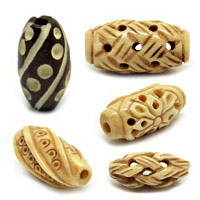 Carved Rice Bone Beads