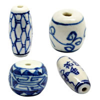 Barrel Porcelain Beads
