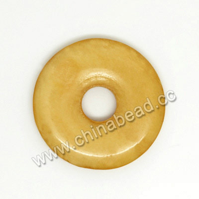 Carved Bone Pendants, Ivory, Smooth Donut, Approx 24x3mm, Hole: Approx 7mm, Sold by PCS