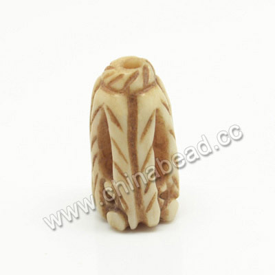Carved Bone Beads, Antique, Tube, Approx 9x17mm, Hole:Approx 2mm, Sold by PCS