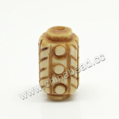 Carved Bone Beads, Antique, Tube, Approx 10x17mm, Hole:Approx 2mm, Sold by PCS