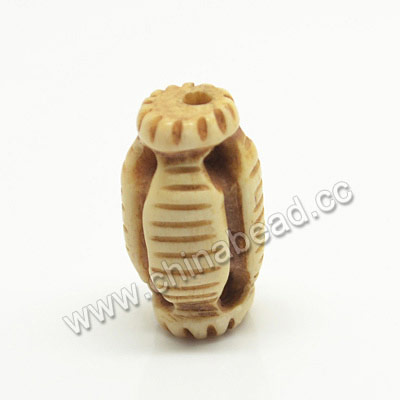 Carved Bone Beads, Antique, Drum/Barrel, Approx 10x17mm, Hole: Approx 2mm, Sold by PCS