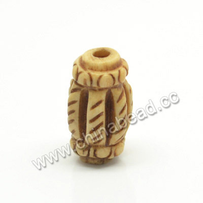 Carved Bone Beads, Antique, Drum/Barrel, Approx 8x15mm, Hole: Approx 2mm, Sold by PCS