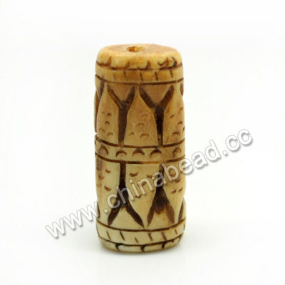 Carved Bone Beads, Antique, Petals, Rectangle, Approx 31x13x8mm, Hole:Approx 2mm, Sold by PCS