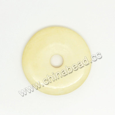 Carved Bone Beads, Ivory, Smooth Donut, Approx 20x3mm, Hole: Approx 4mm, Sold by PCS