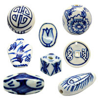 Blue and White Beads