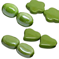 Green Yellow Pearlized Beads