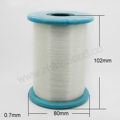 Cord Thread & Wire, Crystal Beading Thread, Crystal, Approx 0.7mm, 450 yards per spool, Sold by spools