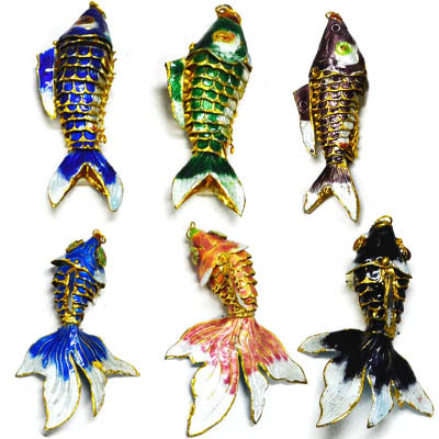 Cloisonne Fish Charms