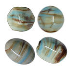 Brown & Turquoise Veins Ceramic Beads
