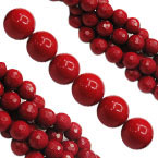Synthetic Red Coral Beads