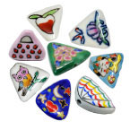 Triangle Porcelain Beads