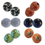 6mm Round Porcelain Beads