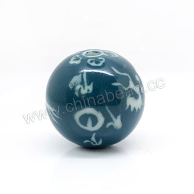 24mm Round Porcelain Beads