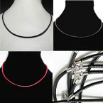 Waxed Cord Fashion Necklace