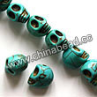 Gemstone Beads, Howlite, Turquoise, Carved skulls, Approx 17x22mm, Hole: Approx 1-2mm, 18 pcs per strand, Sold by strands