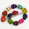 Gemstone Beads, Howlite, Mix colors, Carved skulls, Approx 23x30mm, Hole: Approx 1-2mm, 12 pcs per strand, Sold by strands