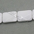 Glass Beads, Milky white, Faceted rectangle, Approx 13x18x5mm, Hole: Approx 1mm, 22pcs per strand, Sold by strands