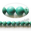 Gemstone Beads, Magnesite, Turquoise blue, Smooth round, Approx 4mm, Hole: Approx 1mm, Sold per 16-inch strand