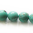 Gemstone Beads, Magnesite, Turquoise blue, Smooth round, Approx 10mm, Hole: Approx 1mm, Sold per 16-inch strand