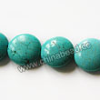 Gemstone Beads, Magnesite, Turquoise blue, Faceted flat round / disc, Approx 18x7mm, Hole: Approx 1mm, Sold per 16-inch strand