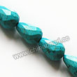 Gemstone Beads, Magnesite, Turquoise blue, Faceted teardrop, Approx 10x14mm, Hole: Approx 1mm, Sold per 16-inch strand