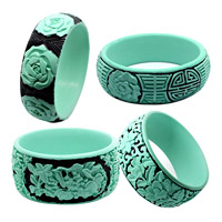 Turquoise and Black Bangles