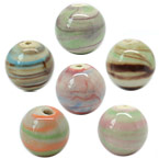 Natural Veins Ceramic Beads