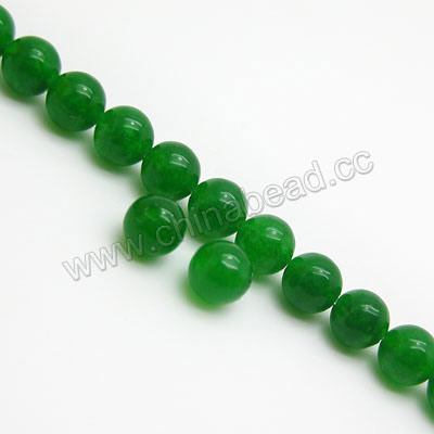 Gemstone Beads, Malaysia Jade, Green, Smooth round, Approx 6mm, Hole:Approx 1mm, Sold per 16-inch strand