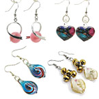 Lampworked Glass Earrings