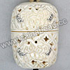 Carved Bone Jewelry Box, White, Adorable elephants  scrimshaw, Cuboid, Approx 67x49x39mm, Hole: Approx 2mm, Sold by PCS