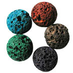 Mixed Color Lava Rock Beads