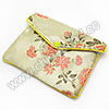 Jewelry Packaging, Brocade Gift Pouch, Yellow color with rose pattern, Approx 100x2.5x130mm, Sold by PCS