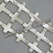 Shell Beads, Mother of pearl, Cream white, Cross, Approx 13x18x4mm, Hole:Approx 1mm, Sold per 16-inch strand