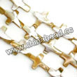 Shell Beads, Mother of pearl, Beige, Cross, Approx 15x20x4mm, Hole:Approx 1mm, Sold per 16-inch strand