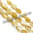 Shell Beads, Mother of pearl, Beige, Leaf, Approx 6x8x3mm, Hole:Approx 1mm, Sold per 16-inch strand