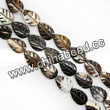 Shell Beads, Mother of pearl, Dk brown/coffee, Leaf, Approx 8x12x3mm, Hole:Approx 1mm, Sold per 16-inch strand