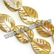Shell Beads, Mother of pearl, Beige, Leaf, Approx 15x20x4mm, Hole:Approx 1mm, Sold per 16-inch strand