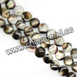 Shell Beads, Mother of pearl, Dk brown/coffee, Disc, Approx 6x4mm, Hole:Approx 1mm, Sold per 16-inch strand