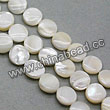 Shell Beads, Mother of pearl, Cream white, Disc, Approx 8x4mm, Hole:Approx 1mm, Sold per 16-inch strand