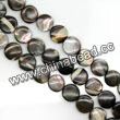Shell Beads, Mother of pearl, Dk brown/coffee, Disc, Approx 8x4mm, Hole:Approx 1mm, Sold per 16-inch strand