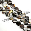 Shell Beads, Mother of pearl, Dk brown/coffee, Disc, Approx 10x3mm, Hole:Approx 1mm, Sold per 16-inch strand