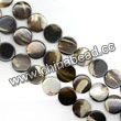 Shell Beads, Mother of pearl, Dk brown/coffee, Disc, Approx 12x3mm, Hole:Approx 1mm, Sold per 16-inch strand
