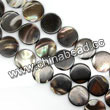 Shell Beads, Mother of pearl, Dk brown/coffee, Disc, Approx 15x3mm, Hole:Approx 1mm, Sold per 16-inch strand