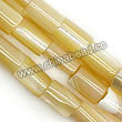 Shell Beads, Mother of pearl, Beige, Tube/cylinder, Approx 4x6mm, Hole:Approx 1mm, Sold per 16-inch strand