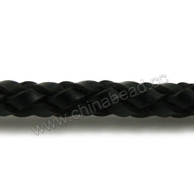 6mm Woven Leather Cord B