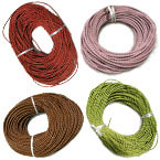 3mm Woven Leather Cord A