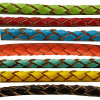 4mm Round Woven Leather Cord A